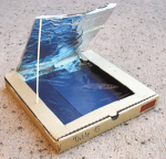 Who knew a pizza box could double as a solar oven?! (http://ostprojects.wordpress.com/)